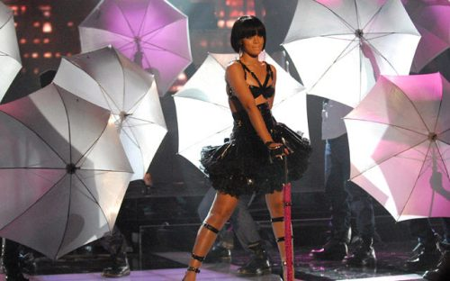 Rihanna needs an umbrella-ella-ella in rain
