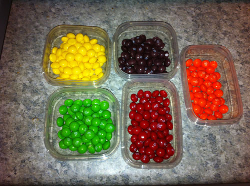 Step 1: Separate the Skittles