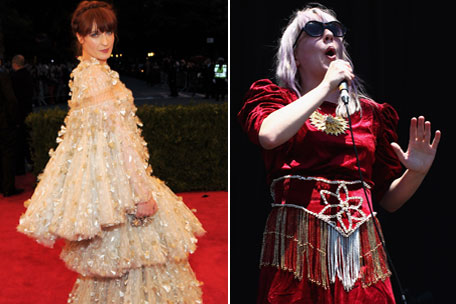 Florence of the Machine and Katie Stelmanis of Austra