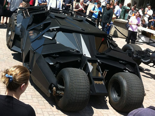 Batmobile Tumbler above front view