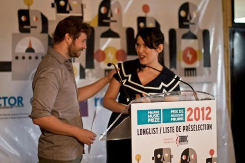 Dan Mangan and CBC's Lana Gay
