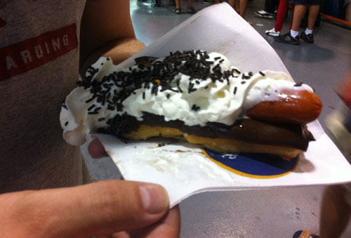 Maple Lodge Chocolate Eclair Hot Dog