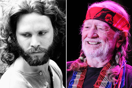 Jim Morrison & Willie Nelson