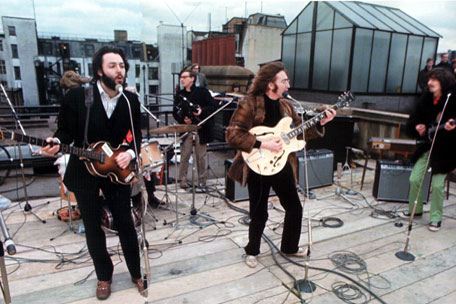 Beatles on the roof