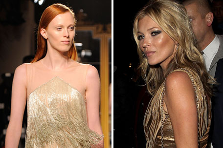 Karen Elson and Kate Moss