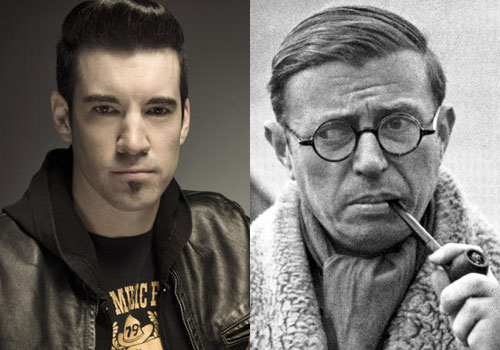Theory Of A Deadman's Tyler Connolly and Jean-Paul Sartre.