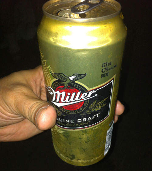 Miller Genuine Draft. CNE 2014.