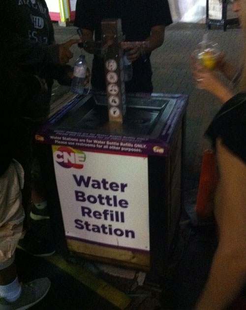 Water Bottle Refill Station. CNE 2014
