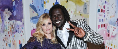 Reese Witherspoon and Emmanuel Jal