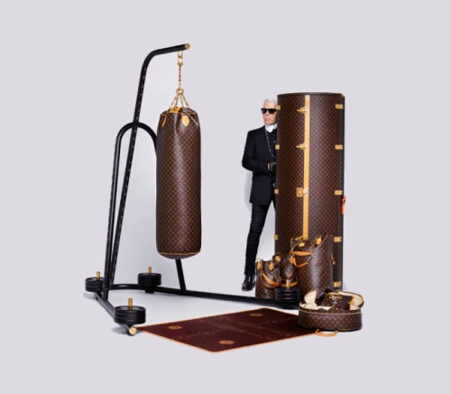 Karl Lagerfeld boxing fashion