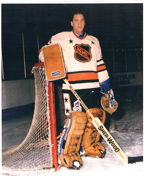 Clint Malarchuk, the 1986-87 Rendez-Vous All-Star.