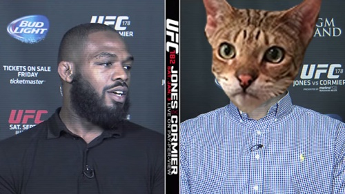 Jon Jones and a cat