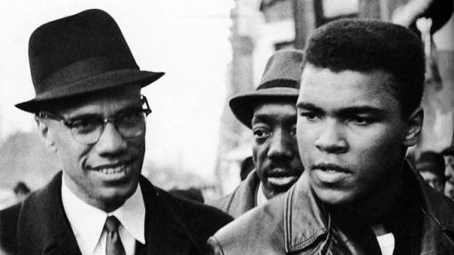 Malcolm X meets Muhammad Ali