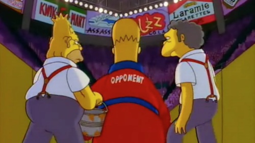 Homer Simpson can take a punch