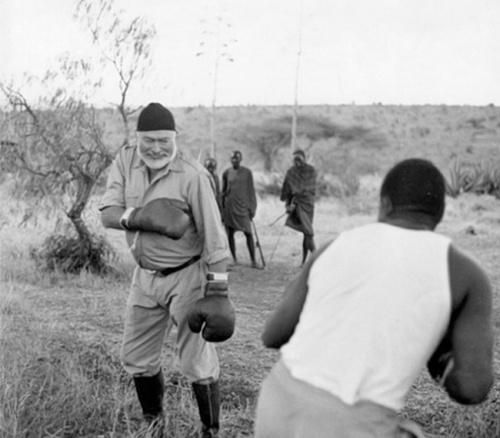 Hemingway boxing.