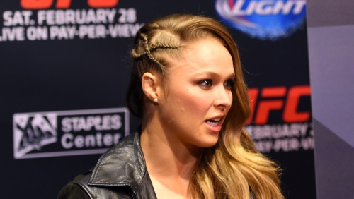 Ronda Rousey's hair game