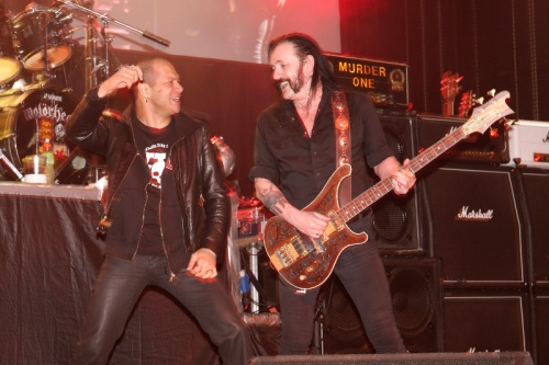 Danko Jones and Lemmy from Motorhead