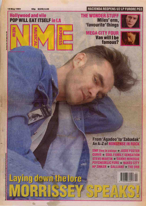Morrissey on the cover of NME