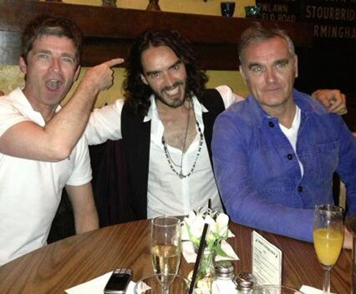 Noel Gallagher, Russell Brand and Morrissey