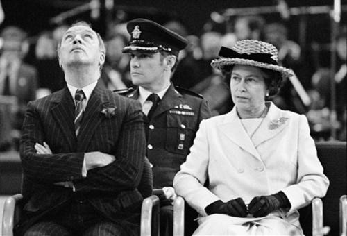 Pierre Trudeau with Queen Elizabeth