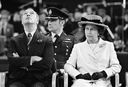 Pierre Trudeau with Queen Elizabeth