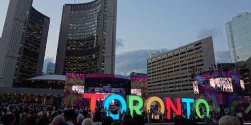 The TORONTO sign as part of Panamania.