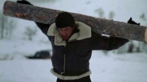 Rocky with log