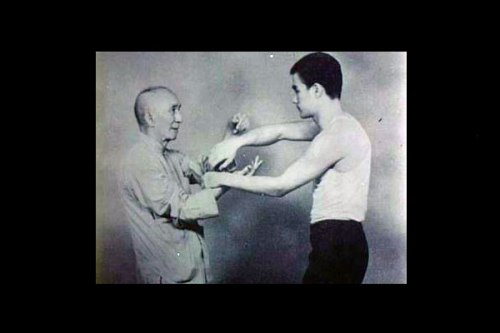 Trainer Yip Man with Bruce Lee