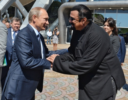 Vladimir Putin and Steven Seagal