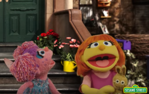 Julia, the autistic Muppet