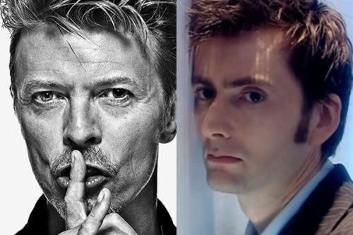 David Bowie and David Tennant