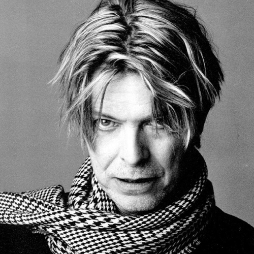 David Bowie in a scarf