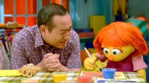 Julia, the autistic Muppet.